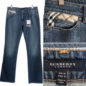 Burberry London Blue Jeans NWT US 12